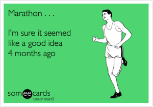 Someecards - Marathon training