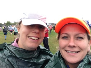 Ruth & Chicken - London Marathon 2015